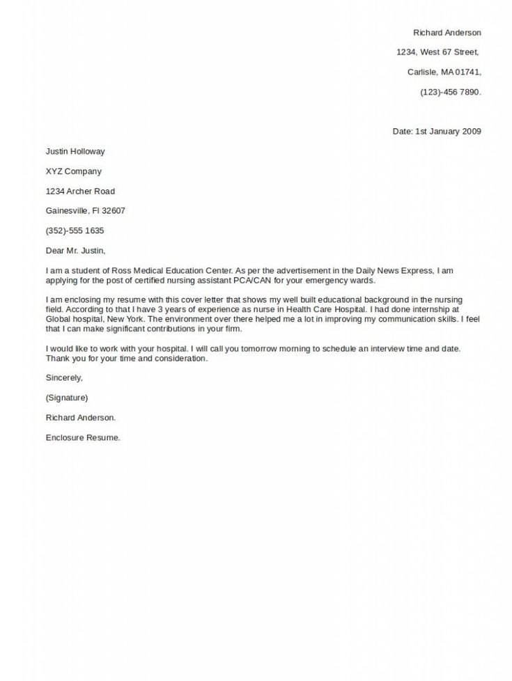 Letter Example Nursing Careerperfectcom. Outstanding Cover Letter