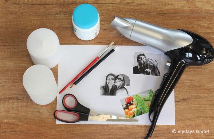 DIY Kerzen mit Foto bedrucken - tolle Idee für den nächsten Geburtstag, Valentinstag oder Weihnachten! Was ihr dafür braucht außer einem Ausdruck vom Laserdrucker, erfahrt ihr hier.