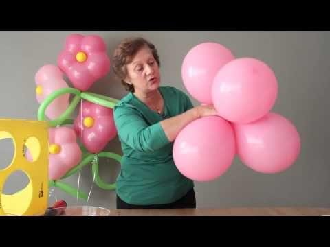 Cómo hacer una flor con globos de colores - YouTube