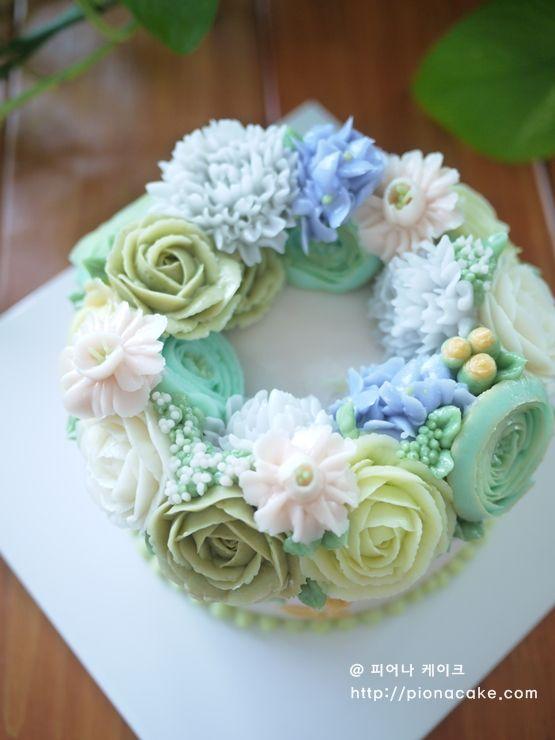 Buttercream Flower Cake Buttercream Cake Pinterest