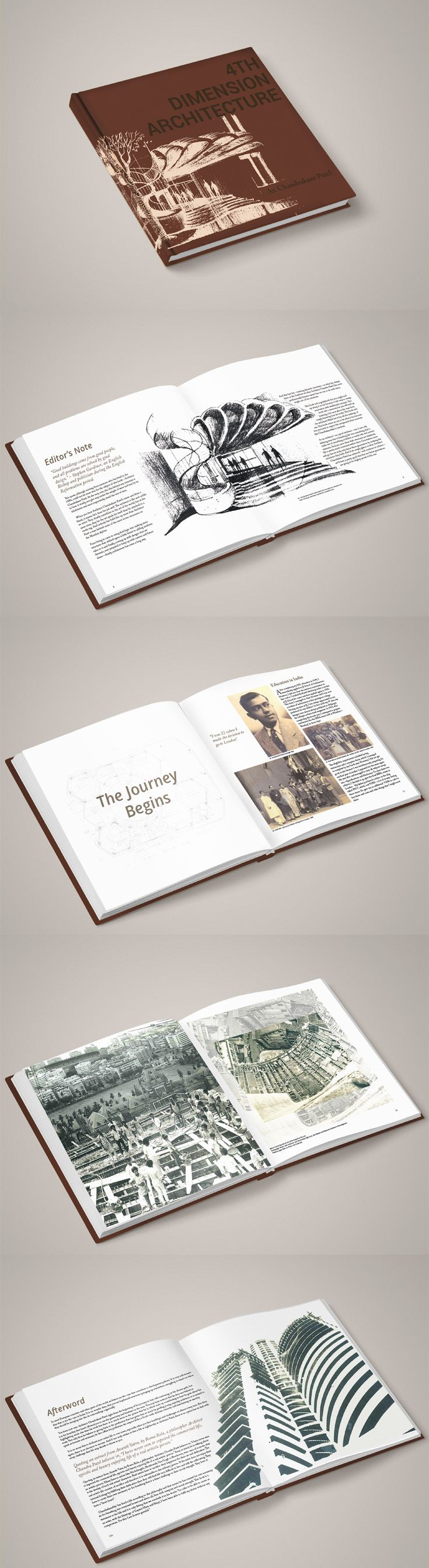 Layout for a Coffee Table Book based on an autobiography of an Architect