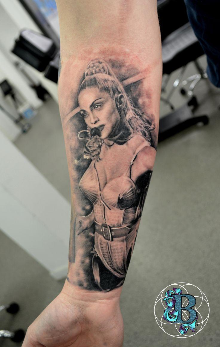 Leeslittlewonderland meaningful tattoos good ideas - Portrait Of Madonna By Jim At Bobinskis Tattoo Studio