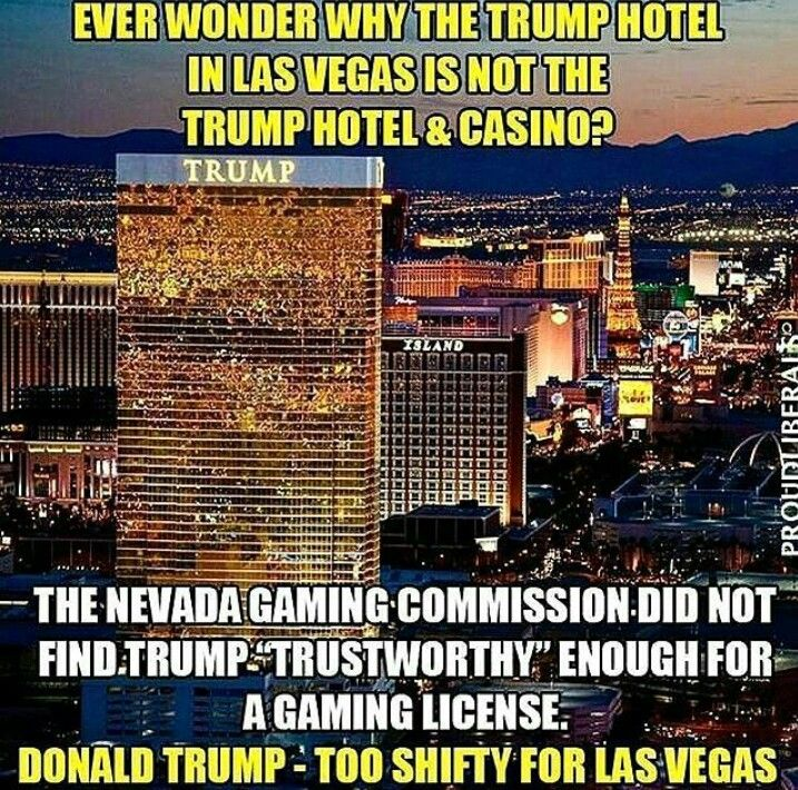 trump las vegas casino license