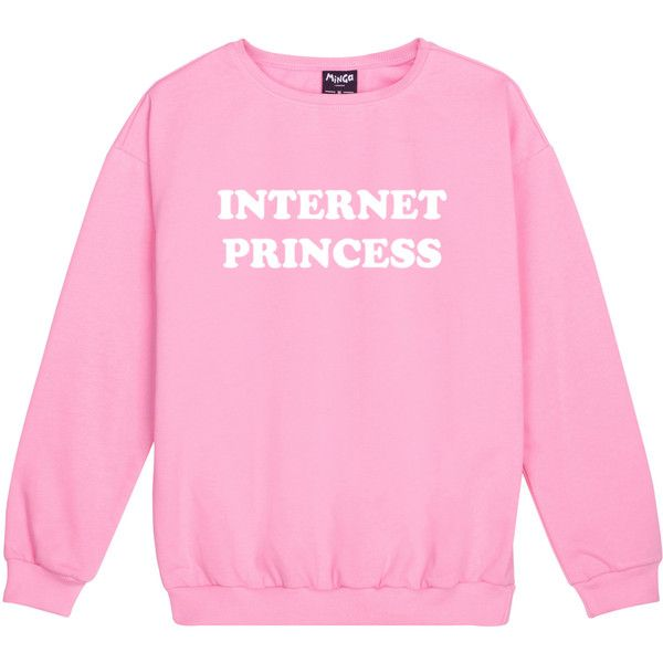Internet Princess Sweater Jumper Funny Fun Tumblr Hipster Swag Grunge... (180 SEK) ❤ liked on Polyvore featuring tops, hoodies, sweatshirts, sweatshirt, sweaters, black, women's clothing, retro sweatshirts, gothic tops and retro tops
