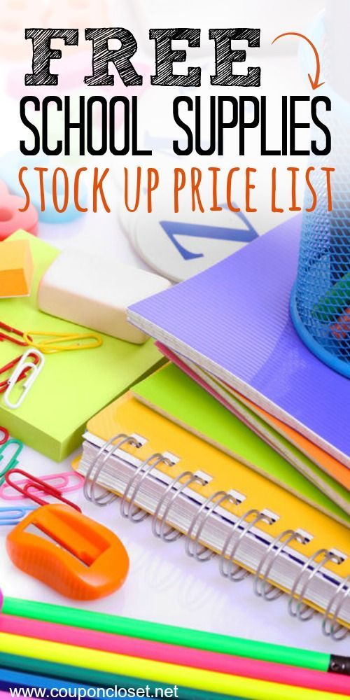 Back to school Supplies list - Know the Best prices! | Back