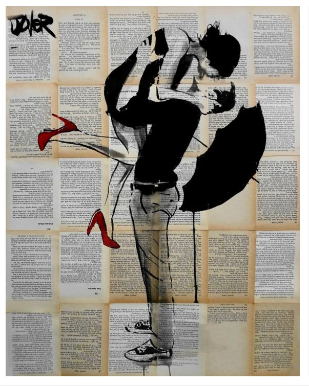 """""""Summer Rain"""", grafite de 2014 de australiano Loui Jover. Veja também: http://semioticas1.blogspot.com.br/2011/07/arte-do-grafite_15.html"""
