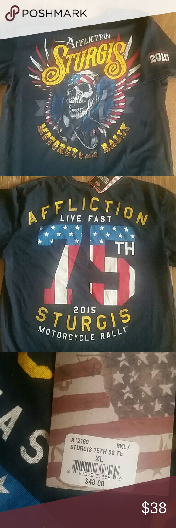 Men's Affliction Sturgis tee Men's Affliction Sturgis 2015 vintage tee NWT from The Buckle Affliction Shirts Tees - Short Sleeve