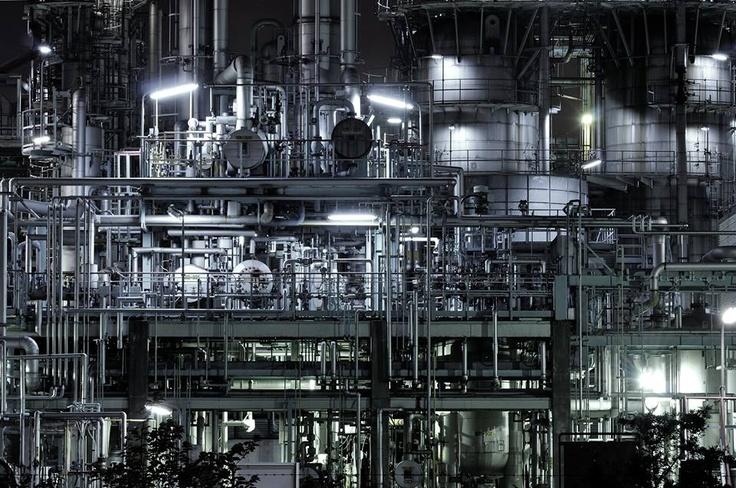 闇夜の回路図 川崎 工場夜景