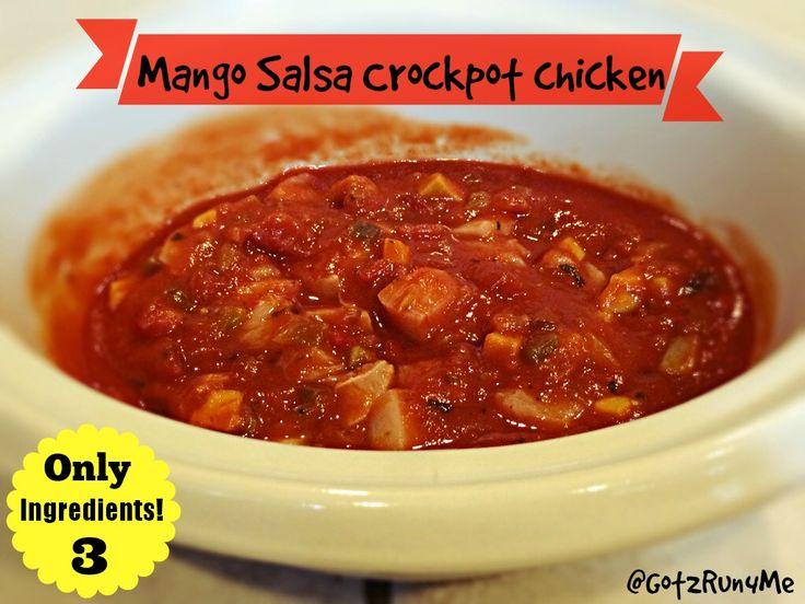 Running With Perseverance | 3 Ingredient Slow Cooker Mango Salsa Chicken Recipe | http://got2run4me.com