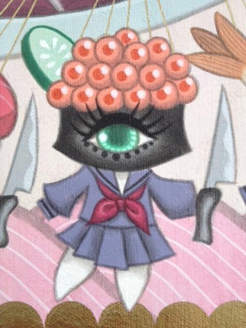 Sushi school girl #4: Salmon roe Sushi スシ女学生その4:イクラ軍艦