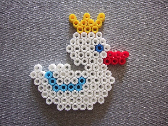 Hama Beads Duck by Dave Moodle Dad, via Flickr