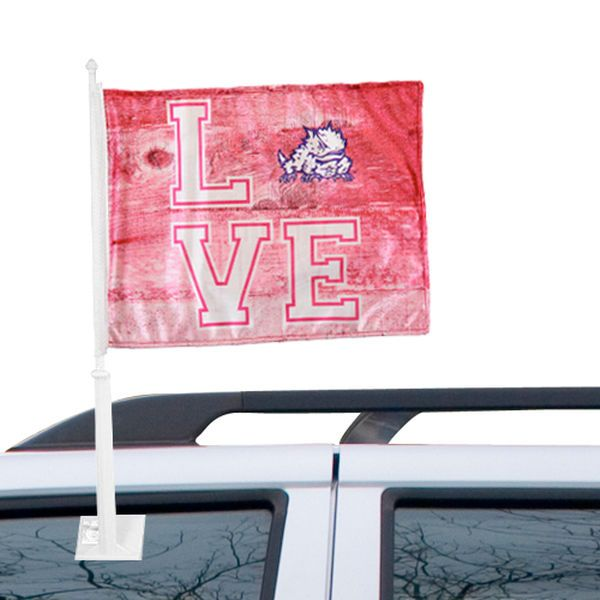 TCU Horned Frogs Love Double-Sided Fashion Car Flag - $12.99