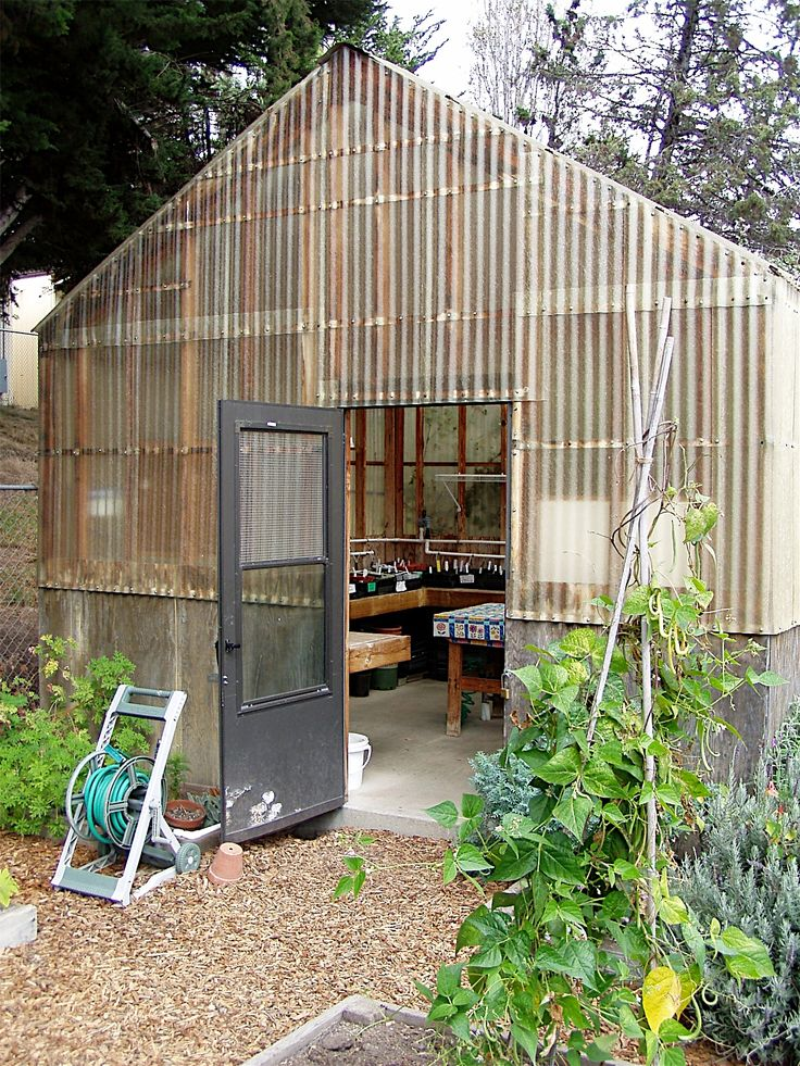 Corrugated Fiberglass And Wood School Greenhouse Images
