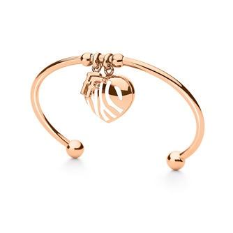 Jewellery - Zebra Bracelet - Bangle,IP rose gold plated with white ename