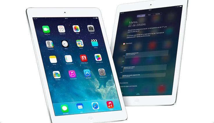 iPad Air e iOS 7. Son uno. Y mucho más que dos #PorquéunaMac #GeniosApple #Apple #iPad #iPadmini
