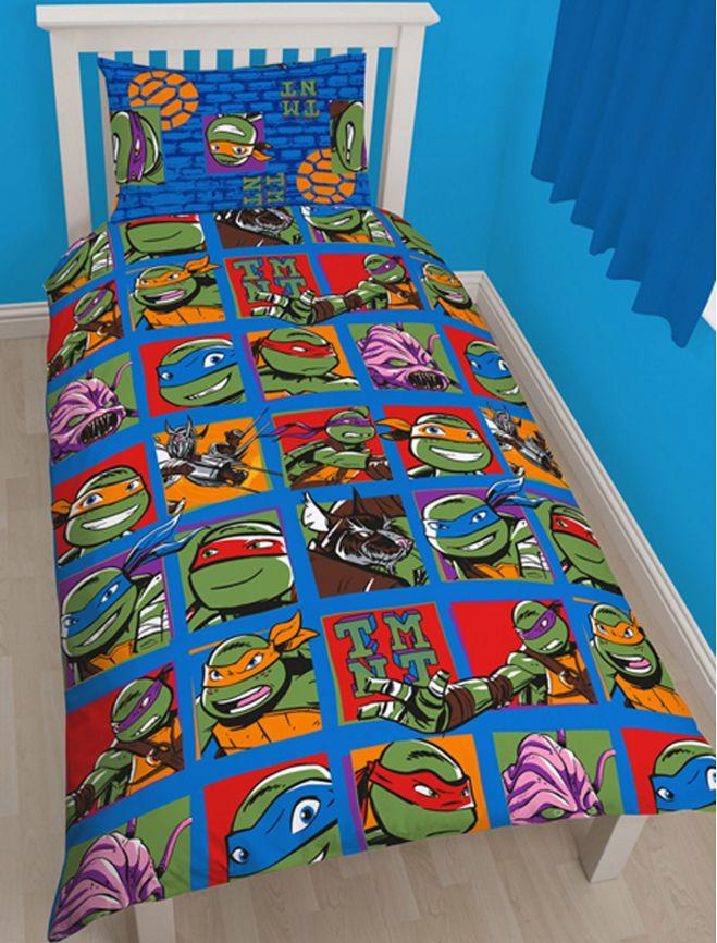 ΠΑΙΔΙΚΟ ΔΩΜΑΤΙΟ - Παπλωματοθήκες - Κουρτίνες :: Παιδικές Παπλωματοθήκες :: Παπλωματοθήκη Μονή Σετ Παιδική Teenage Mutant Ninja Turtles - Χελωνονιντζάκια - http://www.memoirs.gr/