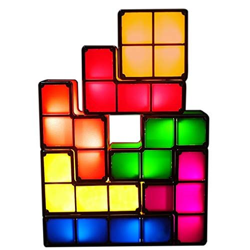 Bitopbi 7 Pcs Tetris Stackable Night Light 3d Puzzles Toy Https Www Amazon Com Dp B07fvtckdg Ref Cm Sw R Pi Dp U X 2 Color Magic Diy For Teens Night Light