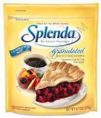 Splenda Conversion Chart: Splenda/ Stevia sugar measures cup for cup same as regular sugar. SPLENDA.  SPLENDA® Packets:  2 tsp =1 pkt, 1 tbsp=1 1/2 pkts, 1/8 C. = 3 pkts, 1/4 C. 6 packets 1/3 C. =8 pkts, 1/2 C. =12 pkts, 2/3 C. = 16 pkts, 3/4 C. =18 pkts, 1 C. = 24 pkts.