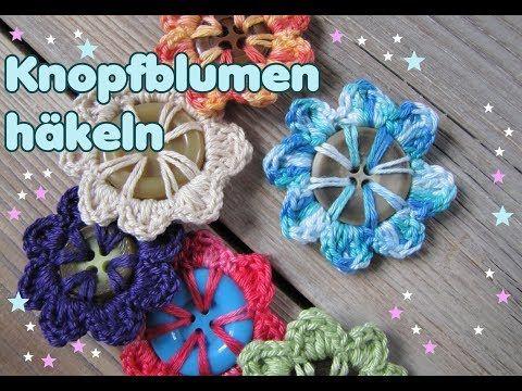 In diesem Video lernt Ihr, wie man ganz einfach aus Knöpfen in wenigen Minuten eine Blume häkeln kann.
