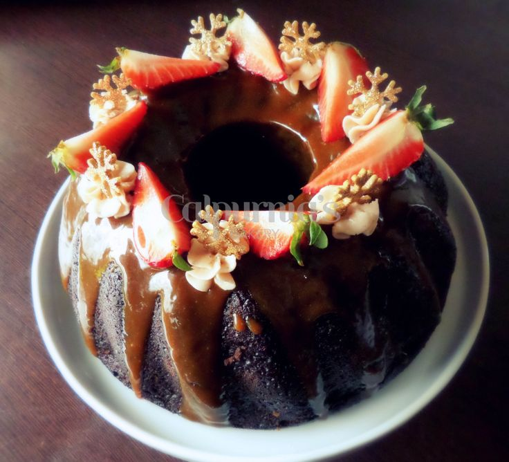 Chocolate and salted caramel bundt cake