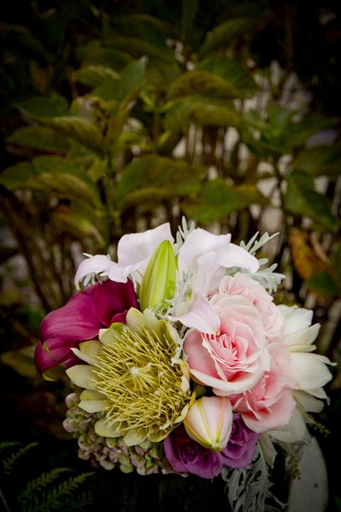 What a gorgeous bouquet, big statement flowers and pops of gorgeous pinks!