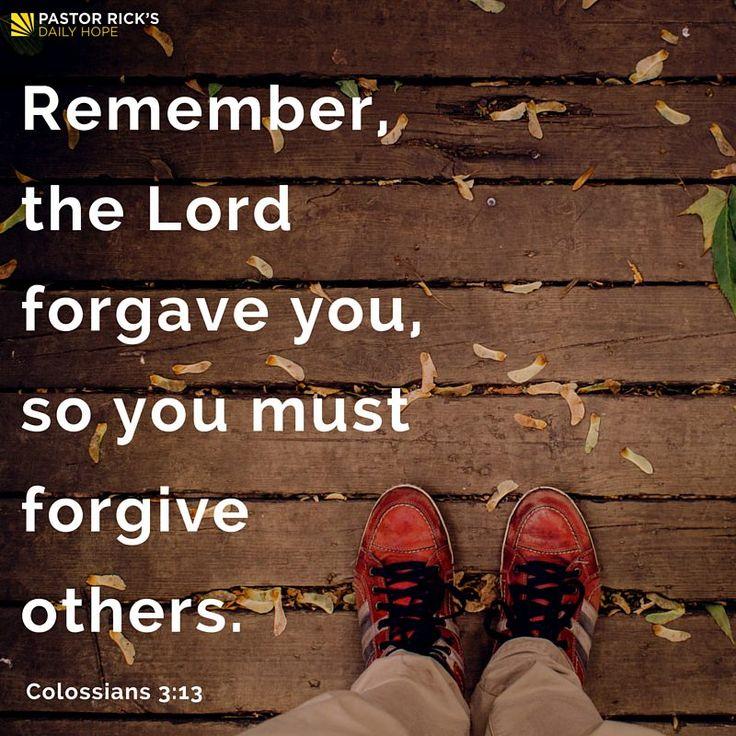 Forgive Because You're Forgiven