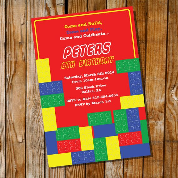 25 best images about Judahs Lego Party – Lego Party Invitations Free