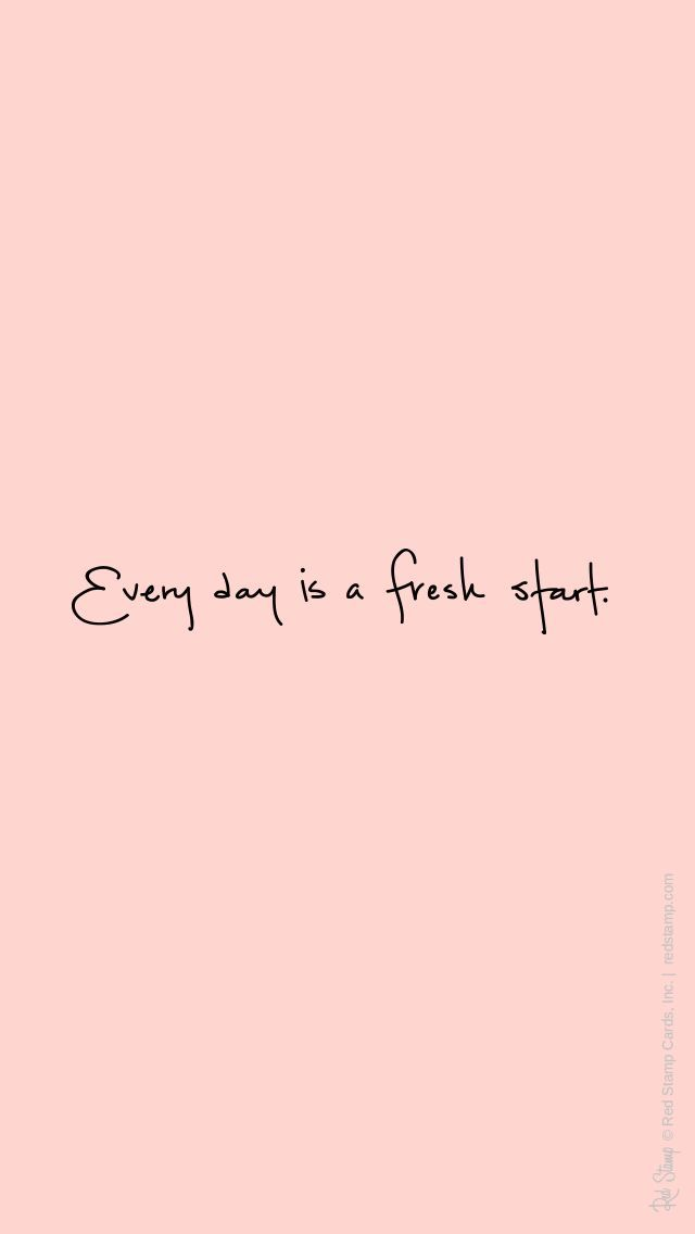 Good morning, fresh start.