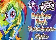 Rainbow Dash Rainbooms Style | Juegos Equestria Girls - Rainbow Rocks