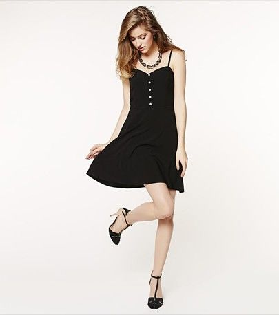 This flared dress is as effortless and feminine as it gets!