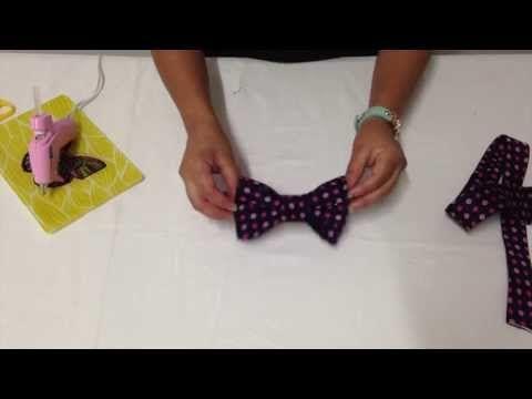 Cómo hacer una pajarita. Cómo hacer un corbatín. Cómo hacer un moño. How to make a bow tie - YouTube