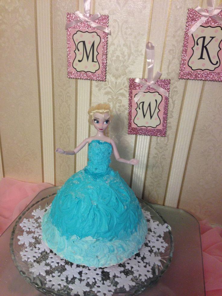 Elsa Doll Cake Images : Disney Frozen Elsa Doll Cake Molly s party Pinterest ...