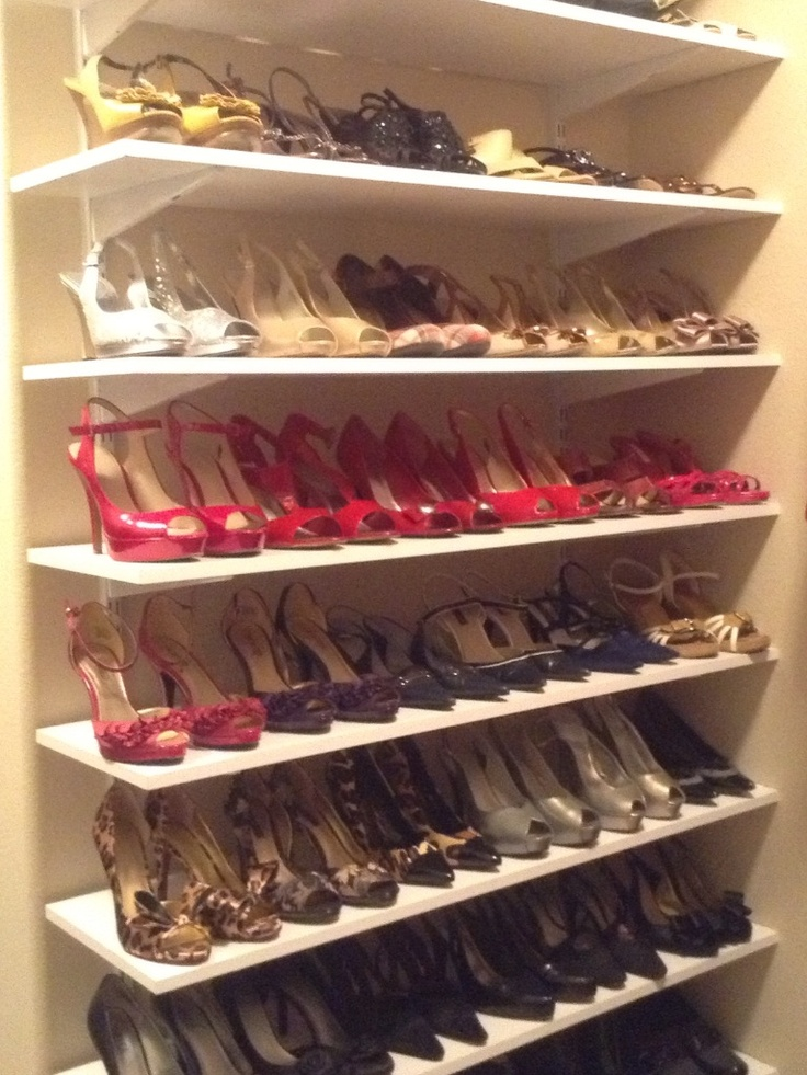 Best 25 shoe shelve ideas on pinterest shoe storage for Diy wall shelves for shoes