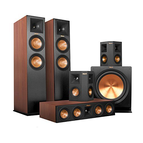Klipsch RP280F Home Theater System Bundle Cherry with Black Surrounds and Subwoofer with Denon AVRX4200W >>> Read more reviews of the product by visiting the link on the image.