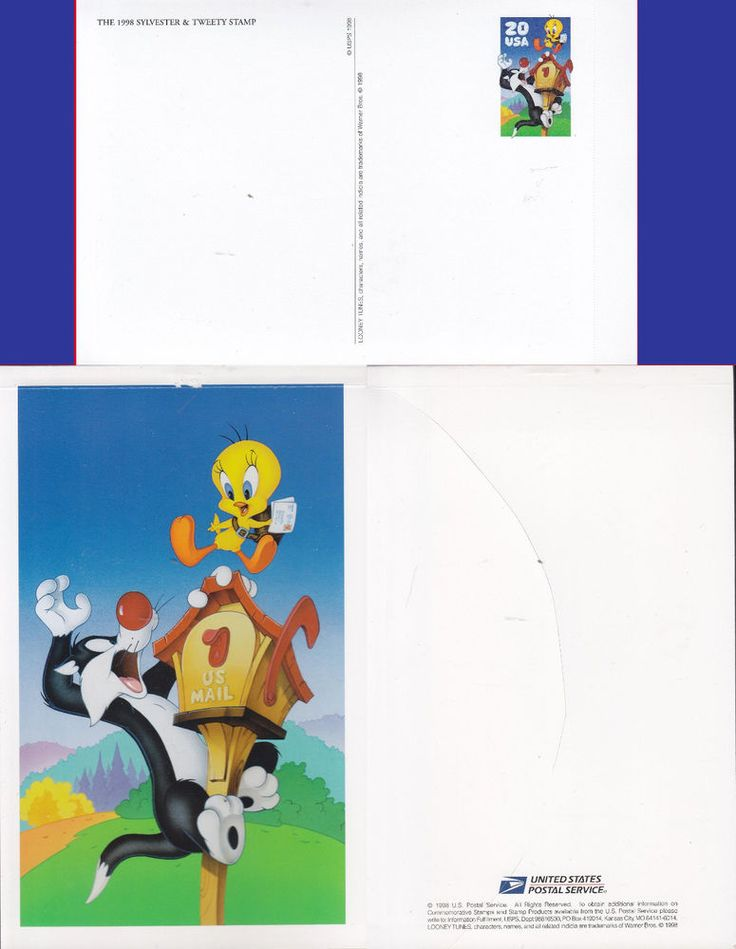 BOOK of 10 20c -Scott#: UX291a - Sylvester & Tweety BUY 6 or MORE SHIP FREE 1602