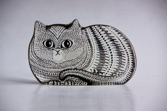 Abraham Palatnik Lucite Cat Figurine - Brazillian Designer Abraham Palatnik. Cool tattoo