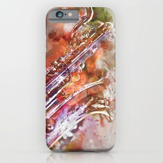 Sax watercolor iPhone