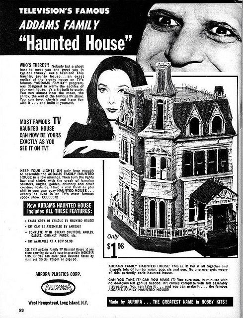 Addams family haunted house model kit ad misc ads for Ad house