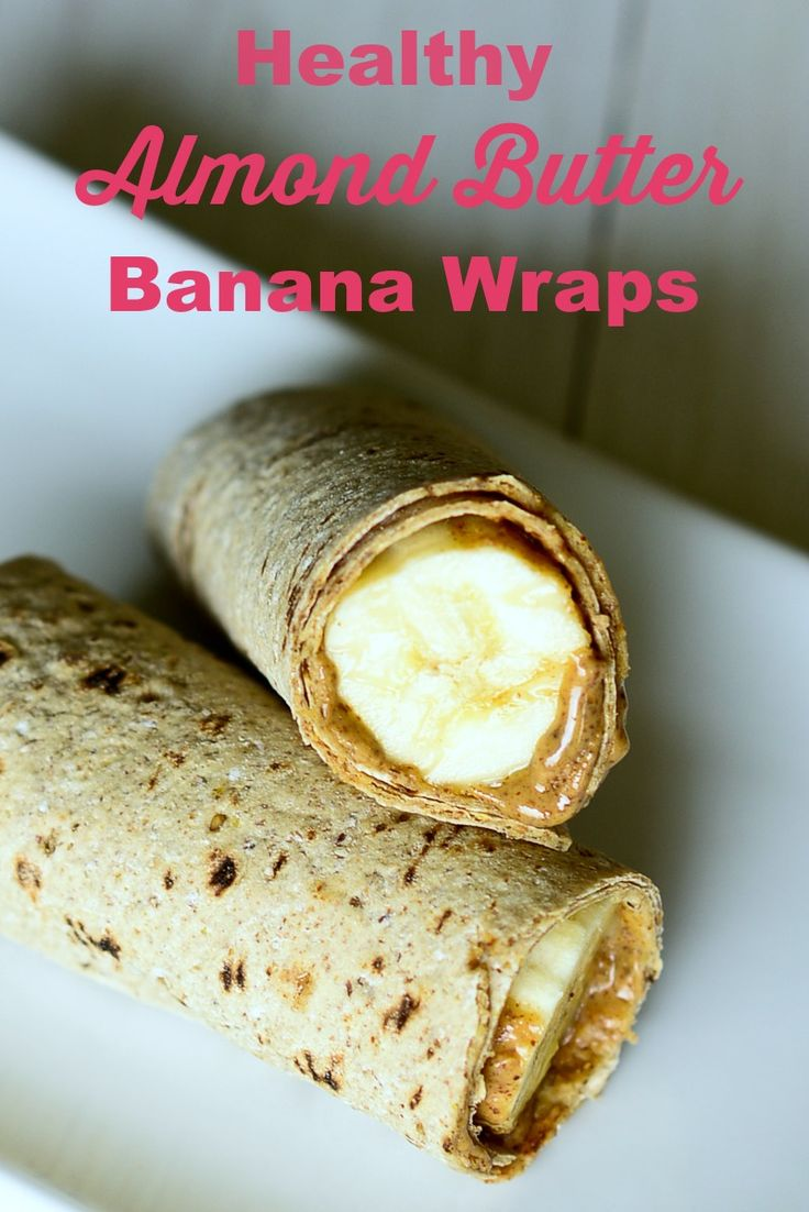 Healthy Almond Butter Banana Wraps - one of my favorite clean eating lunches!