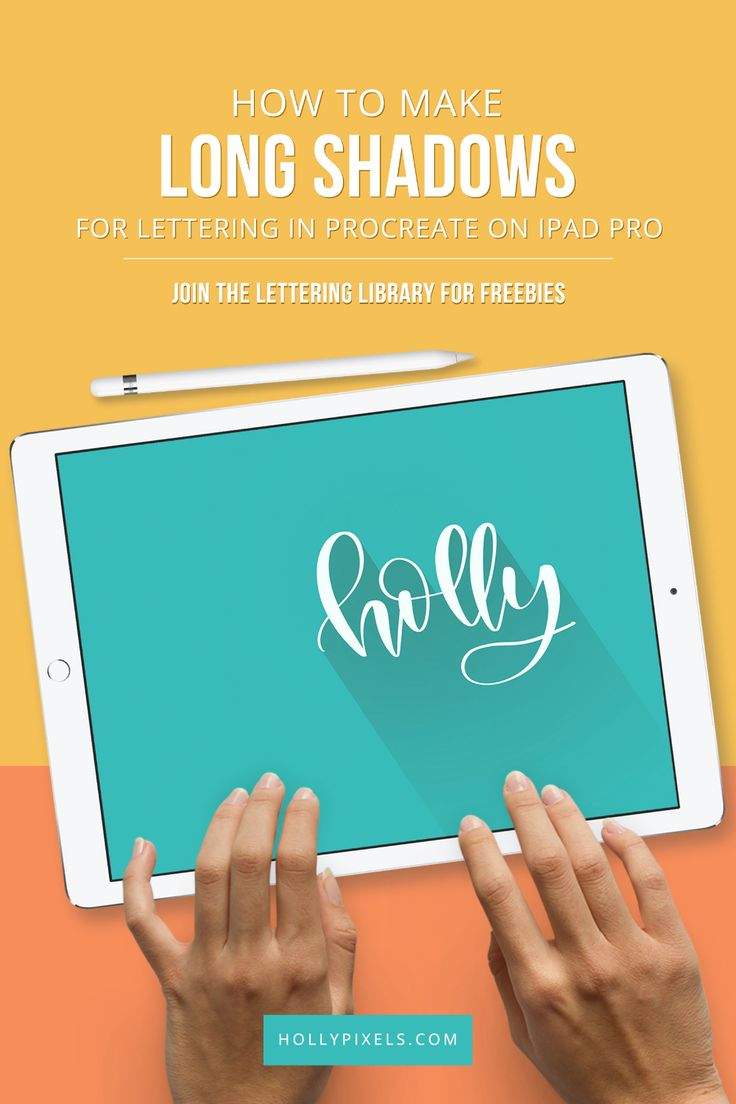 How to Create a Long Shadow in Procreate Holly Pixels in