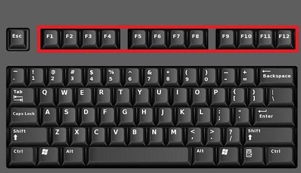 A billentyűzeten a legfelső sorban van 12db F betűvel kezdődő billentyű. (F1, F2, … F12) Ezeket nevezzük...