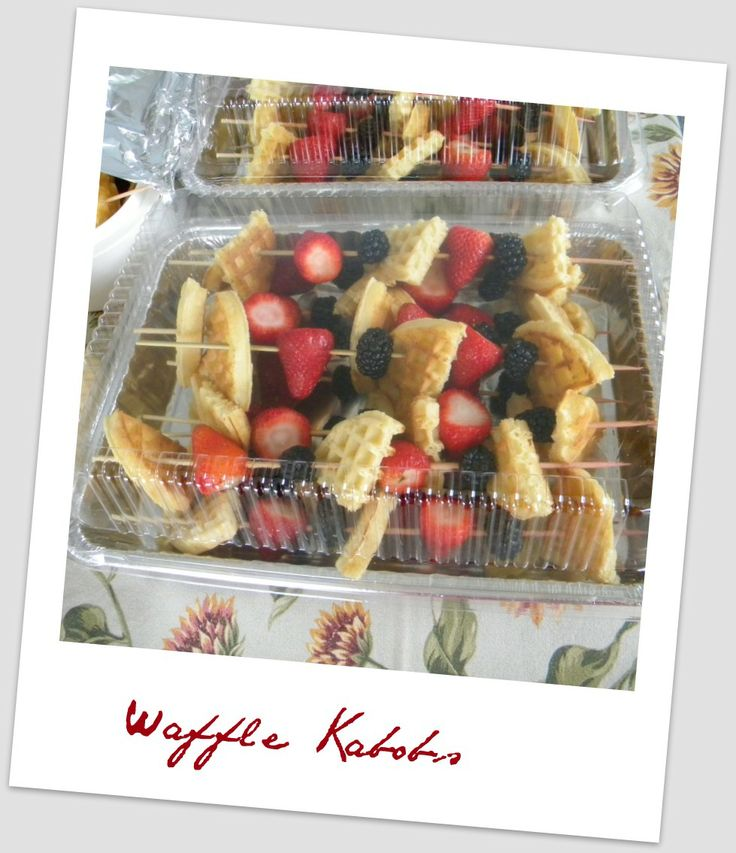 Waffle and Fruit Kabobs