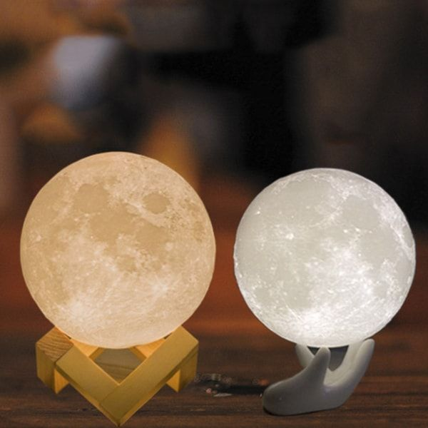 "Moon Light - LED rechargeable light/""nightlight"" -  comes in 4 sizes from 3.5""-7.9""  The Apollo Box"