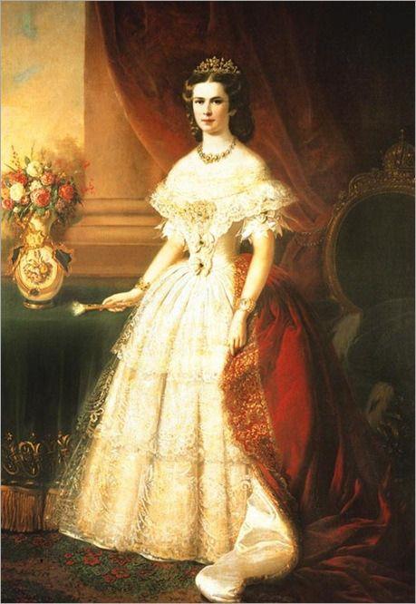 Al ser coronada reina de Hungría, el 8 de junio de 1877 en Cfen, recibió como obsequio el palacio Gödölö. Esto, junto con sus continuos viajes a Hungría acrecentó el rumor de una relación sentimental con el Conde Gyula Andrássy. La causa de sus viajes continuos a  Hungría era la profunda simpatía e identificación con la cultura y la causa húngaras. Retrato por FRANZ RUSS