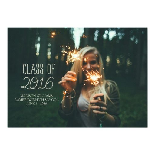 Class of 2016 Add Your Photo Graduation Party Card