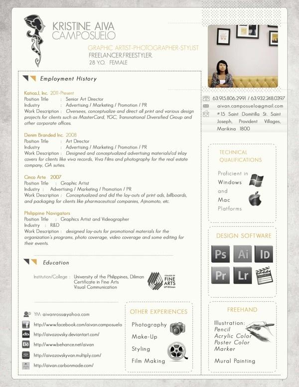 Best Business Creative Cvs Images On   Graph Design