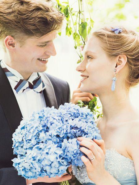 #BTNNV180 #NOVARESE #blue #white #dress #weddingdress #wedding #tuxedo #ノバレーゼ #青 #ブルー #ガーデン #タキシード #カラードレス #ウエディング