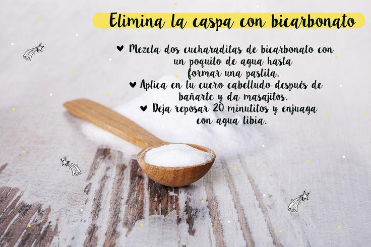 Elimina la caspa con bicarbonato