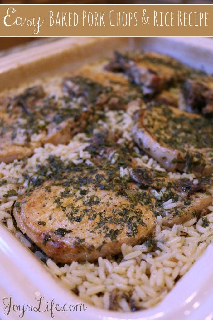 Easy Baked Pork Chops And Rice Recipe Pork Baked Pork