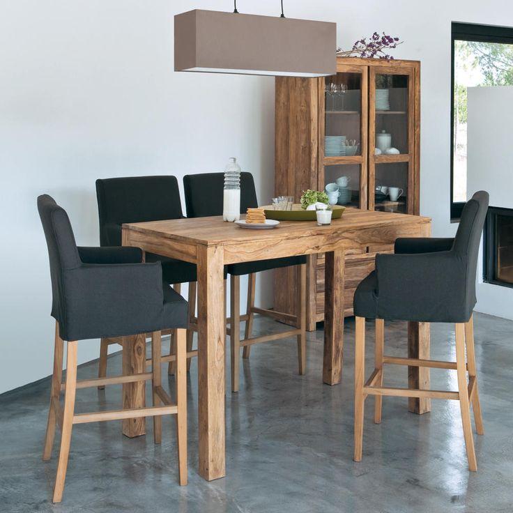 Mesa de comedor alta de madera de maciza de palo rosa An. 150 cm STOCKHOLM